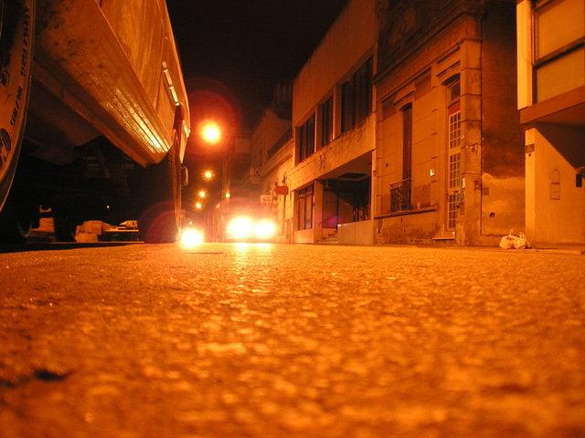 veřejné osvětlení výbojkami